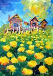«…Мы жили в деревне, перед окном у нас был луг, весь золотой от множества цветущих одуванчиков