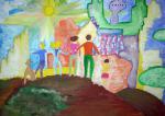 Рисунок- иллюстрация Кунаевой Анастасии, 12 лет, Мурманская область