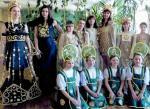 Коллекция моделей одежды «Белорусское золото», Флористический театр «Флора» из города Витебска, Беларусь