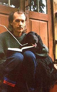 Профессор Владимир Михайлович Липунов со своей любимой собакой