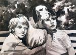 Белый Бим - Чёрное ухо, рисунок:Алёны Иванниковой, Московская область