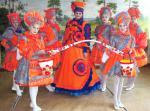 Коллекция костюмов «Дымковские франтихи» - Театр моды «Калейдоскоп» из города Владимира