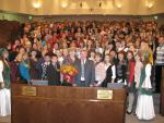 """Делегаты Международного форума """"Зелёная планета 2009"""" в зале заседаний Совета Федерации. Фото В.В. Чичмаря"""