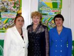 Марина Дараган, Марина Медведева и Галина Спектр на открытии одной из выставок Зелёной планеты. Фото Владимира Чичмаря