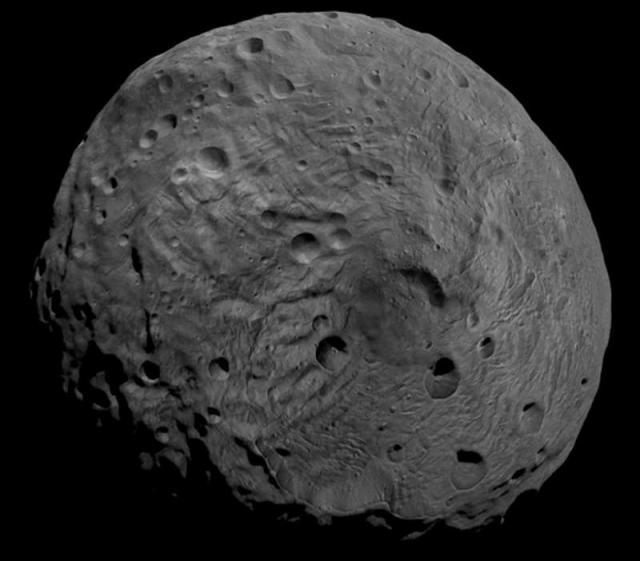 Южный полюс астероида Веста